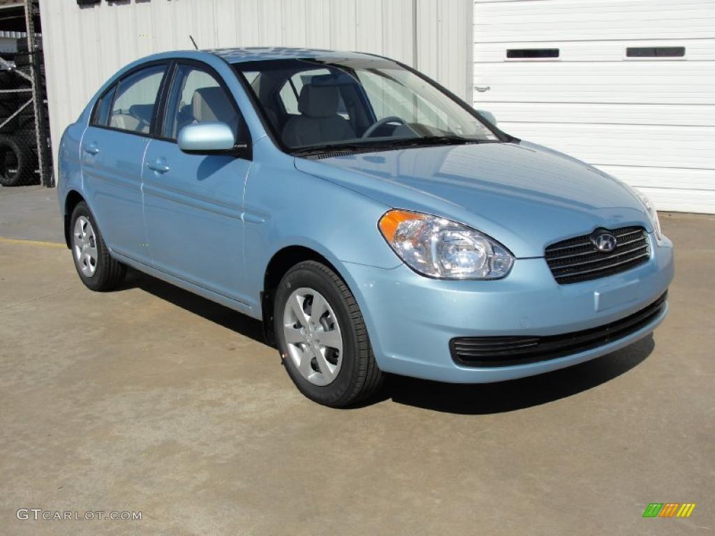 Ice Blue 2011 Hyundai Accent Gls 4 Door Exterior Photo