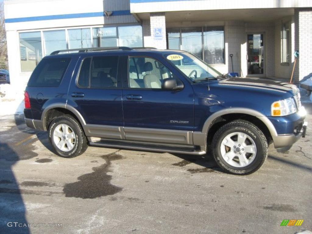 Dark blue pearl metallic 2004 ford explorer eddie bauer - Ford explorer exterior dimensions ...