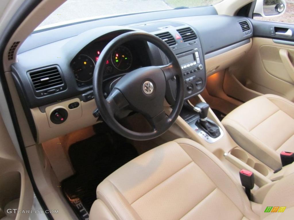 Pure Beige Interior 2006 Volkswagen Jetta Tdi Sedan Photo