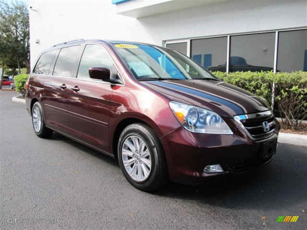 Dark Cherry Pearl 2007 Honda Odyssey Touring Exterior Photo 45127750 Gtcarlot Com