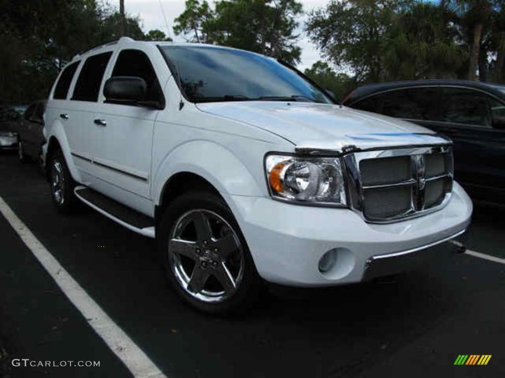 2008 Bright White Dodge Durango Limited 4x4 45102644 Gtcarlot Com Car Color Galleries