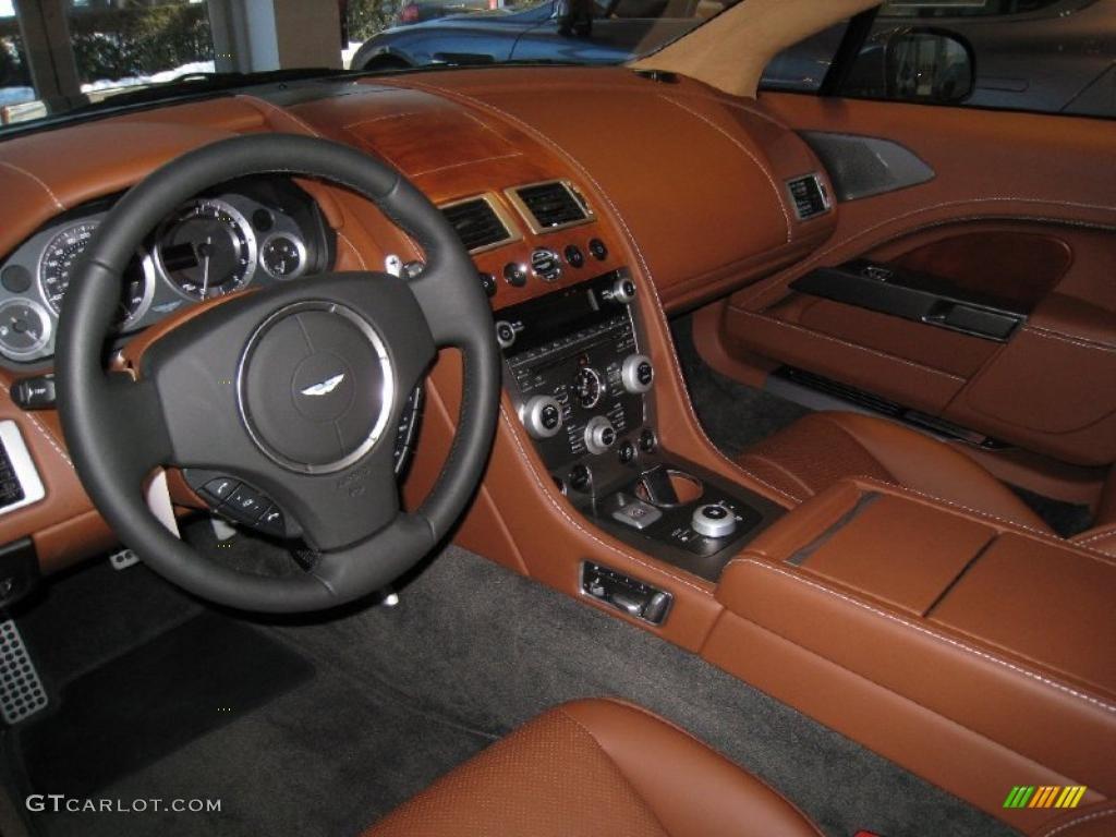 Chestnut Tan Interior 2011 Aston Martin Rapide Sedan Photo