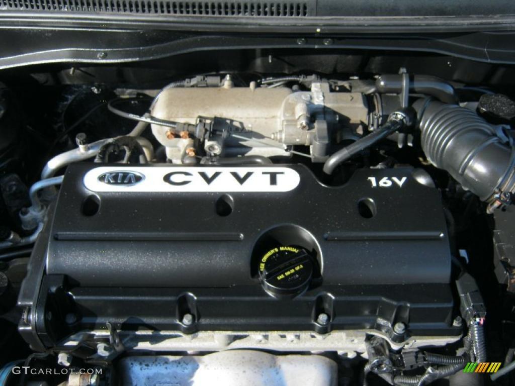 2008 Kia Rio Rio5 Lx Hatchback 1 6 Liter Dohc 16 Valve Vvt 4 Cylinder Engine Photo 45150472
