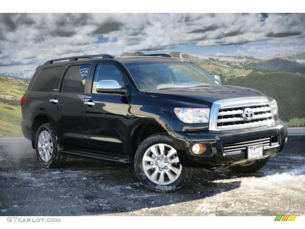 2011 black toyota sequoia platinum 4wd 45167134. Black Bedroom Furniture Sets. Home Design Ideas