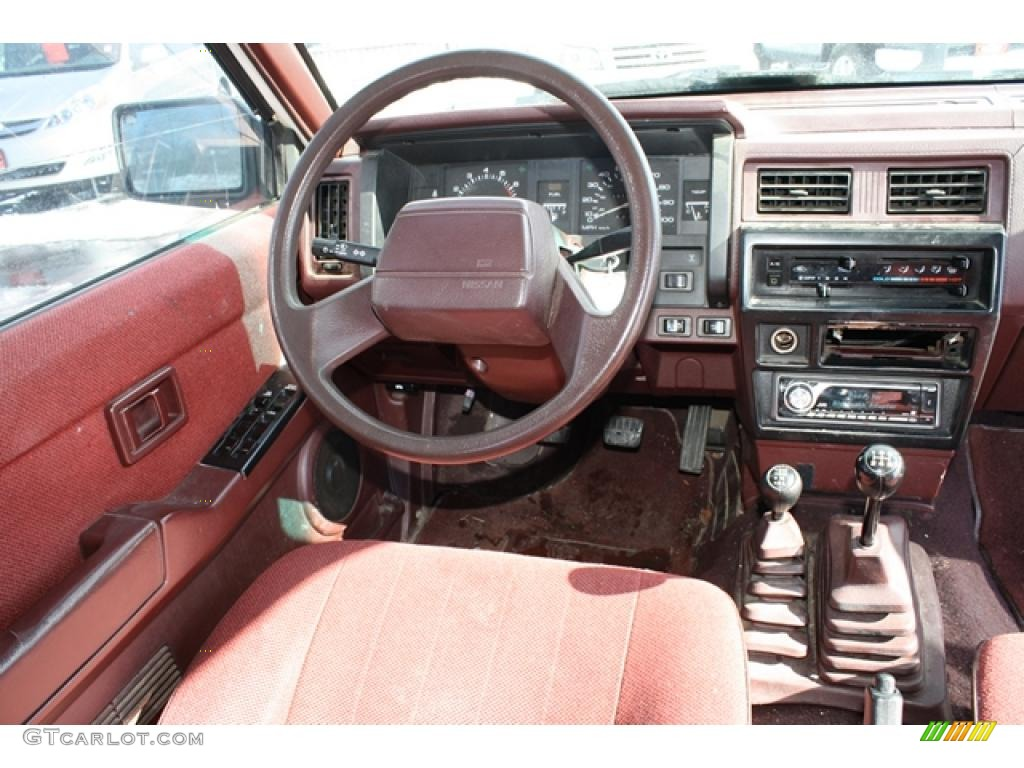 Dark Red Interior 1992 Nissan Pathfinder Xe 4x4 Photo
