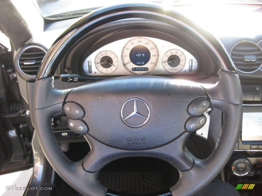 2006 Mercedes Benz Clk 500 Cabriolet Black Stone Steering Wheel Photo 45187697