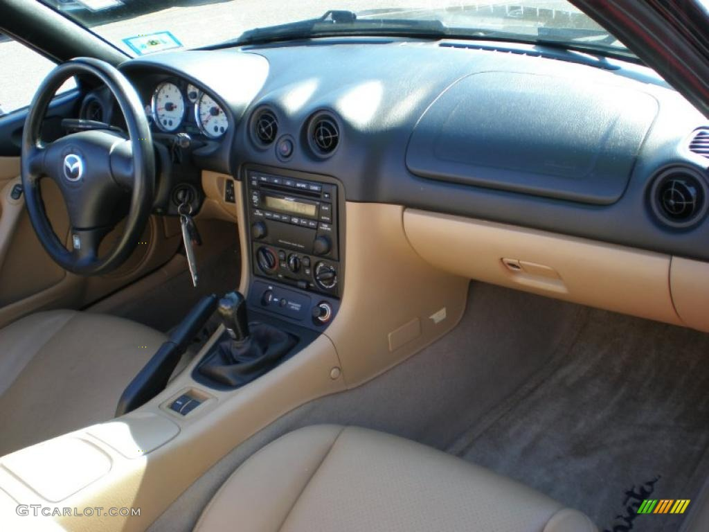 2002 mazda mx 5 miata ls roadster tan dashboard photo. Black Bedroom Furniture Sets. Home Design Ideas