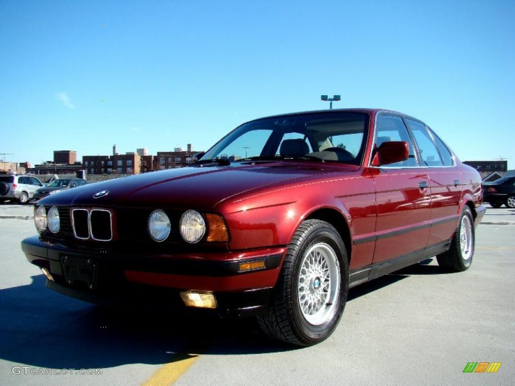 Calypso Red Metallic 1991 Bmw 5 Series 535i Sedan Exterior