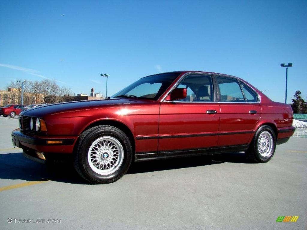 Calypso Red Metallic 1991 Bmw 5 Series 535i Sedan Exterior Photo 45195353