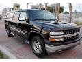 2002 Onyx Black Chevrolet Silverado 1500 LT Extended Cab 4x4  photo #9