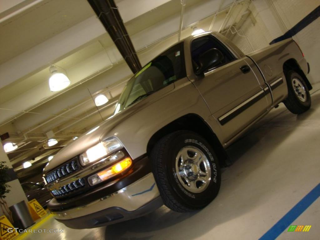 2000 Silverado 1500 LS Regular Cab - Light Pewter Metallic / Graphite photo #1