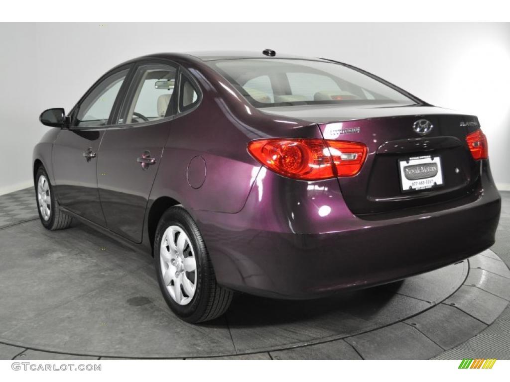 Purple Rain Metallic 2008 Hyundai Elantra Gls Sedan