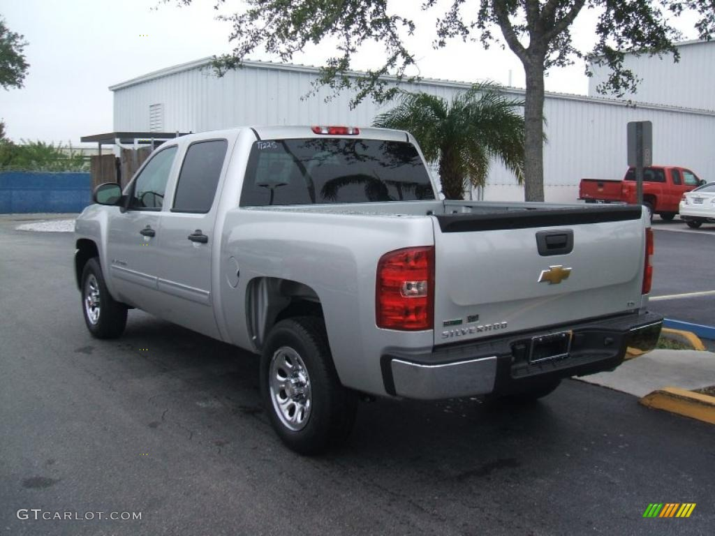 sheer silver metallic 2011 chevrolet silverado 1500 ls crew cab exterior photo 45216545. Black Bedroom Furniture Sets. Home Design Ideas