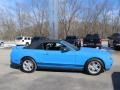 2011 Grabber Blue Ford Mustang V6 Convertible  photo #13