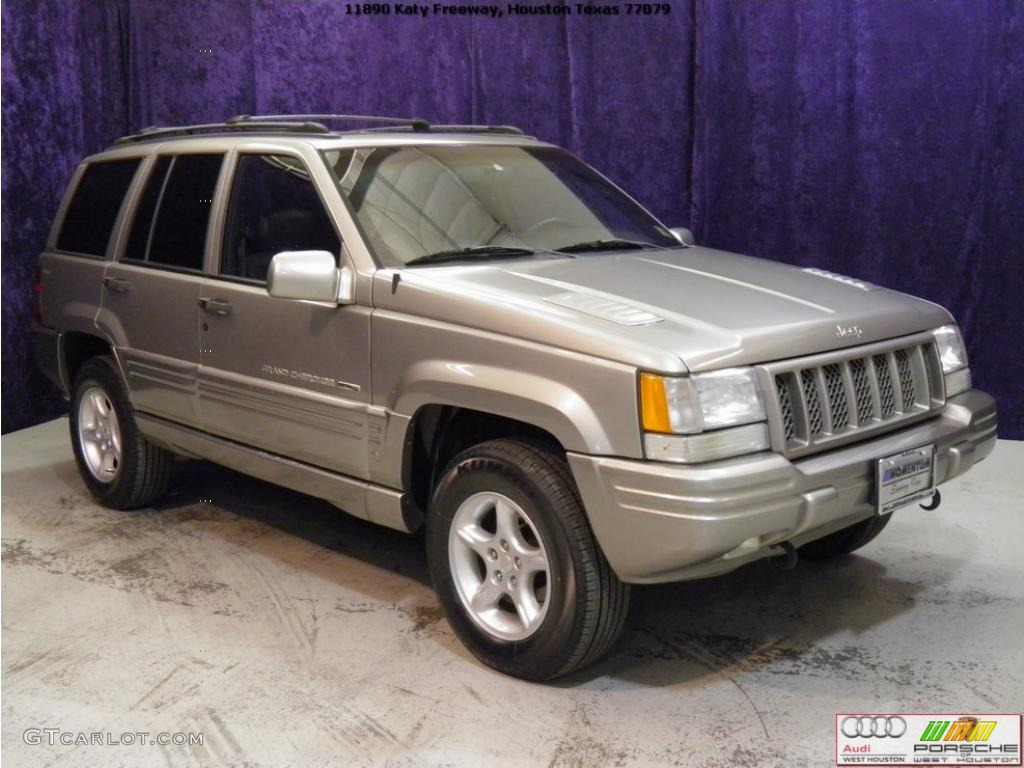 1998 Grand Cherokee 5.9 Limited 4x4 - Light Driftwood Satin Glow / Black photo #1