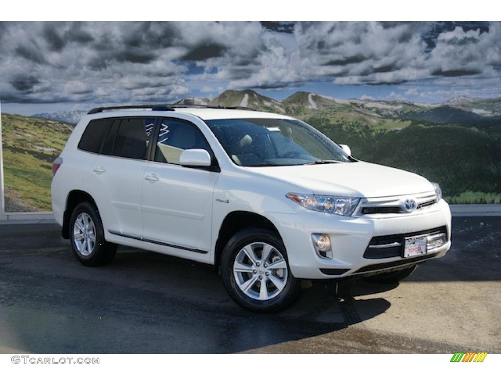 2011 blizzard white pearl toyota highlander hybrid 4wd 45228935 car color. Black Bedroom Furniture Sets. Home Design Ideas