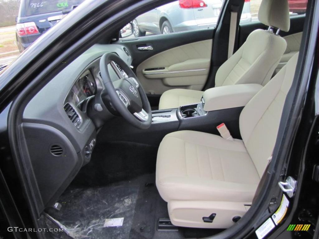Black Light Frost Beige Interior 2011 Dodge Charger R T Plus Photo 45250264