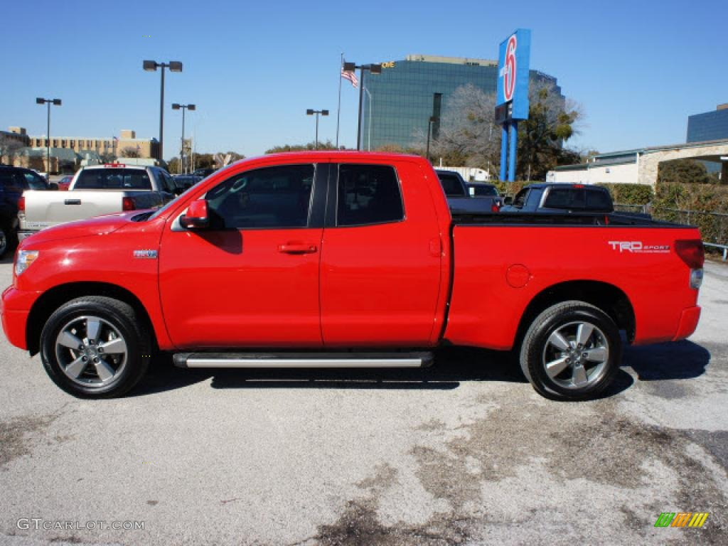 2009 radiant red toyota tundra trd sport double cab 45229560 photo 2 car. Black Bedroom Furniture Sets. Home Design Ideas