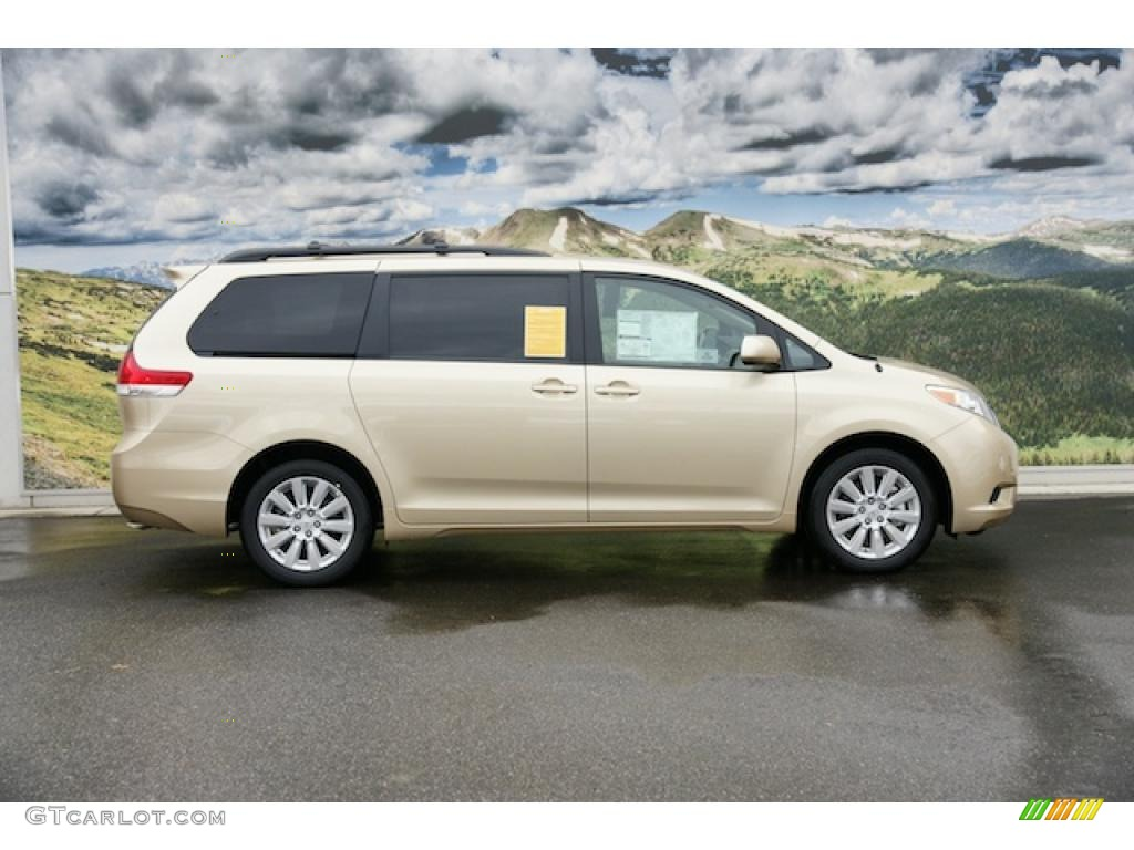 2011 Sienna LE AWD - Sandy Beach Metallic / Bisque photo #2