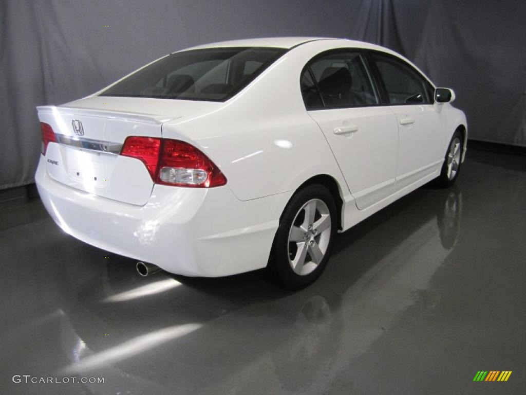 Taffeta White 2009 Honda Civic Lx S Sedan Exterior Photo