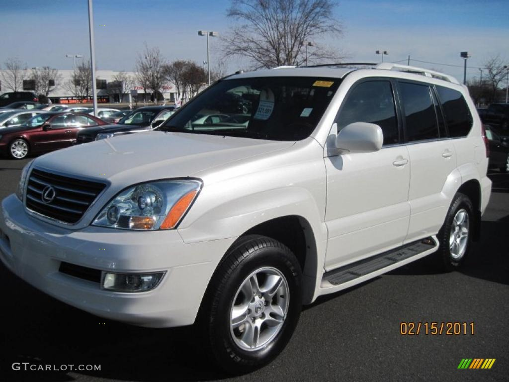 2004 blizzard white pearl lexus gx 470 45331880. Black Bedroom Furniture Sets. Home Design Ideas