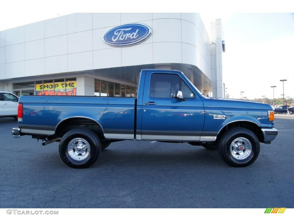Bright Regatta Blue Metallic 1989 Ford F150 Regular Cab
