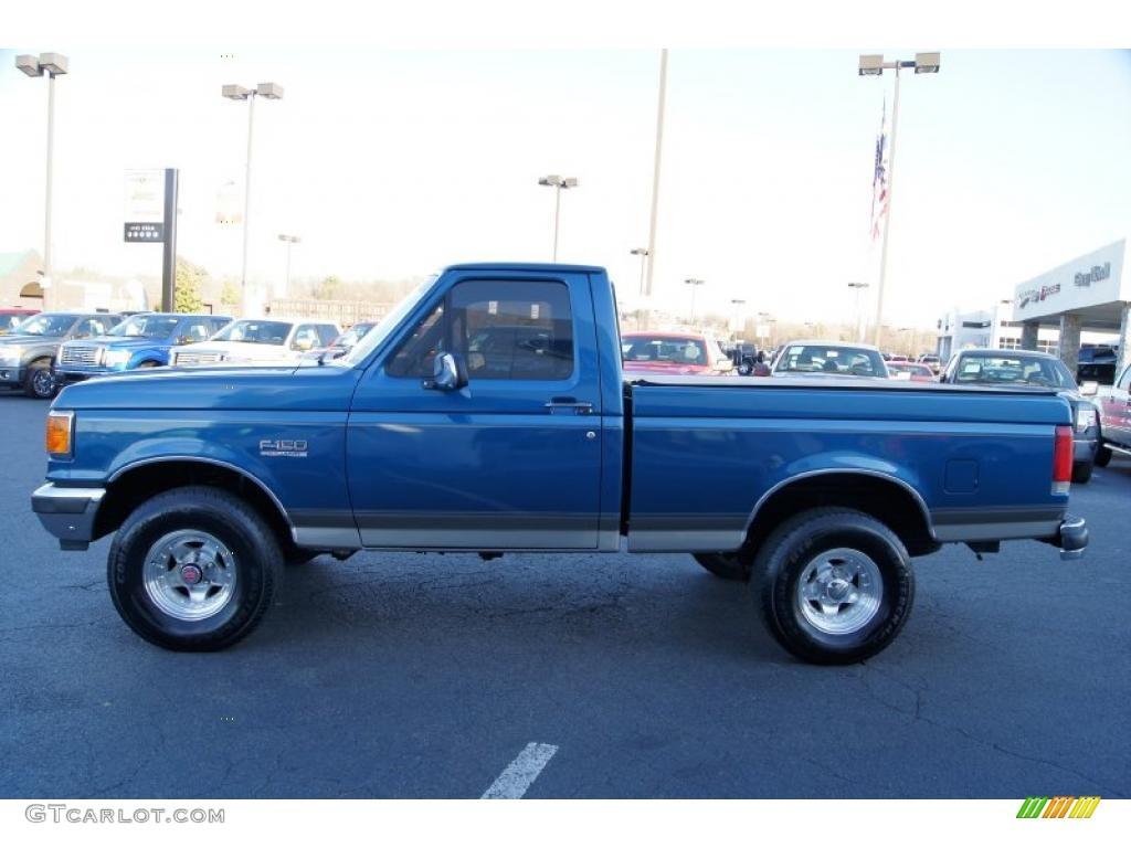 2010 Ford F150 Lariat News >> Bright Regatta Blue Metallic 1989 Ford F150 Regular Cab 4x4 Exterior Photo #45351595 | GTCarLot.com