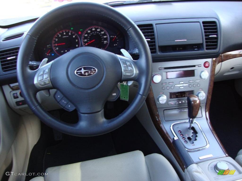 2009 subaru legacy 2.5 gt limited warm ivory dashboard photo