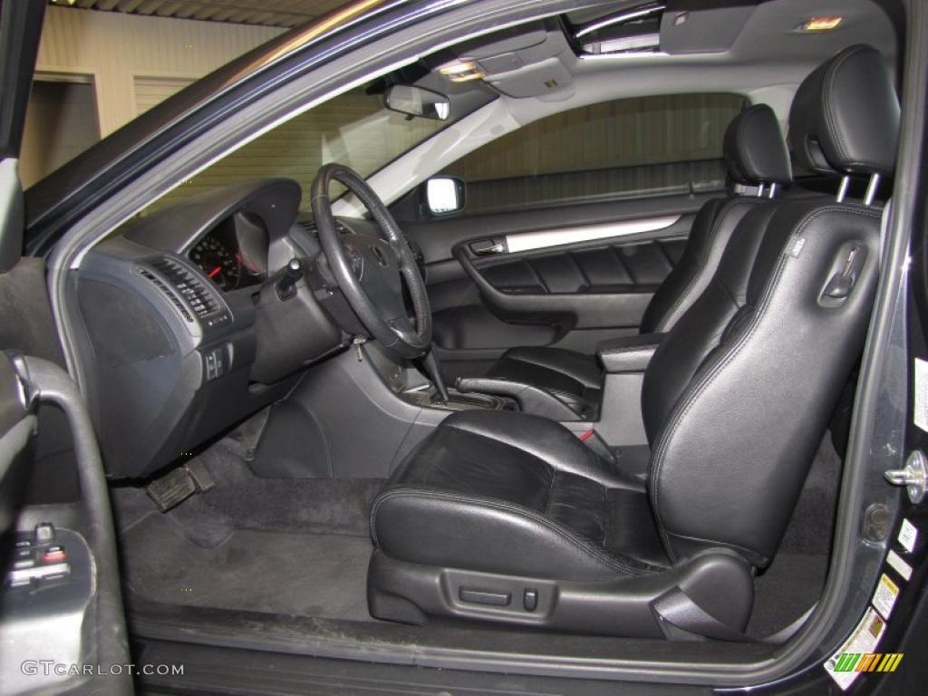 Black Interior 2005 Honda Accord EX V6 Coupe Photo ...
