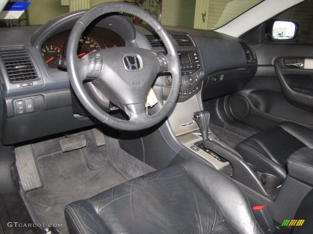 black interior 2005 honda accord ex v6 coupe photo. Black Bedroom Furniture Sets. Home Design Ideas