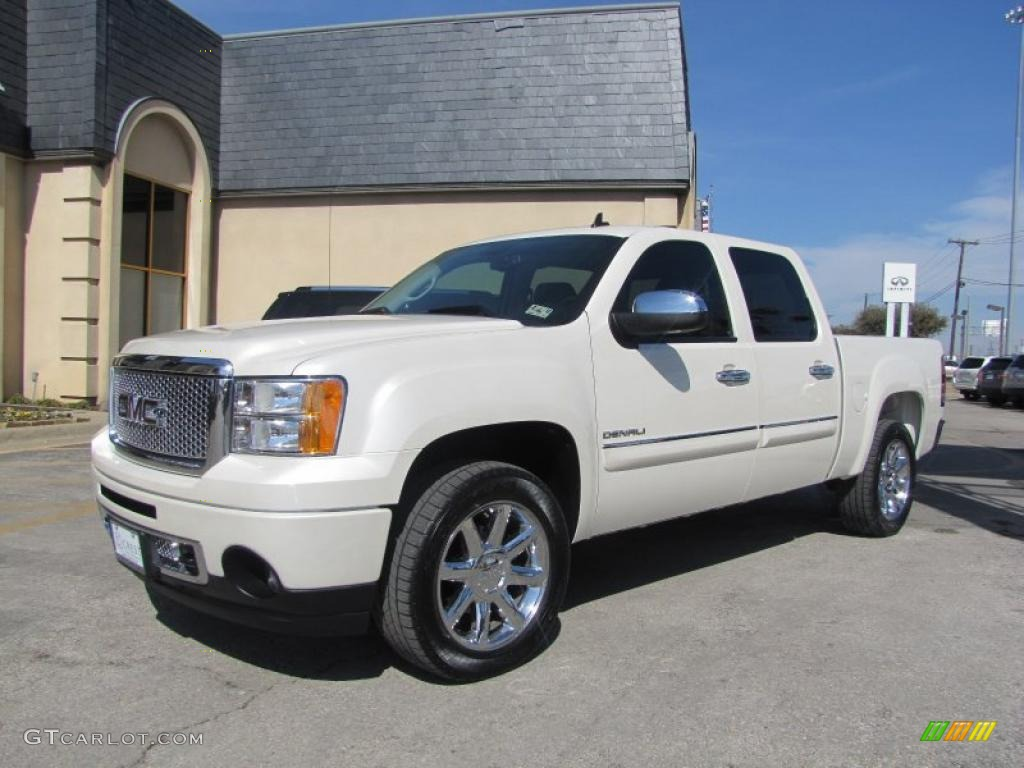 white diamond tricoat 2010 gmc sierra 1500 denali crew cab. Black Bedroom Furniture Sets. Home Design Ideas