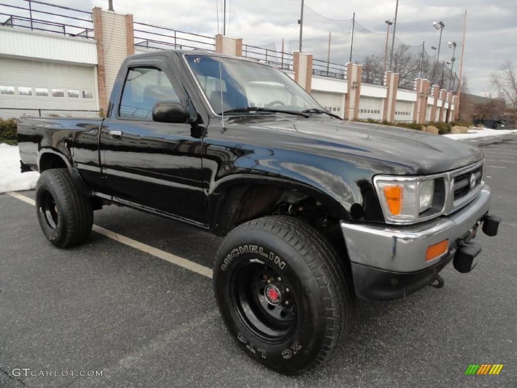 1993 black toyota pickup deluxe regular cab 4x4 45331846 - 1993 toyota pickup interior parts ...