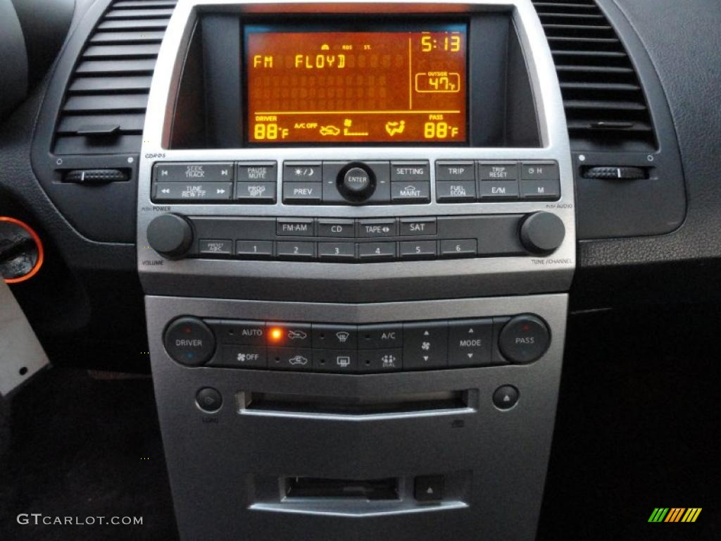 2005 nissan maxima 3 5 sl controls photo 45374385. Black Bedroom Furniture Sets. Home Design Ideas