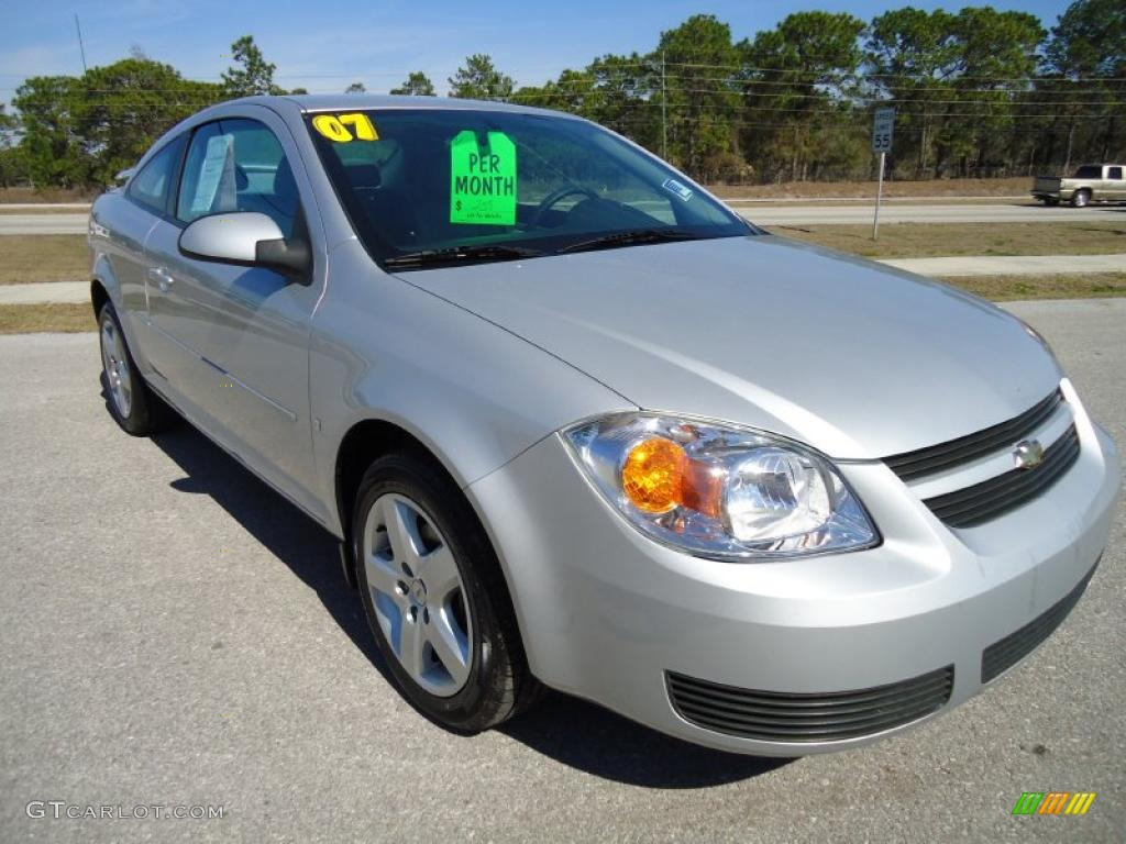 ultra silver metallic 2007 chevrolet cobalt lt coupe. Black Bedroom Furniture Sets. Home Design Ideas