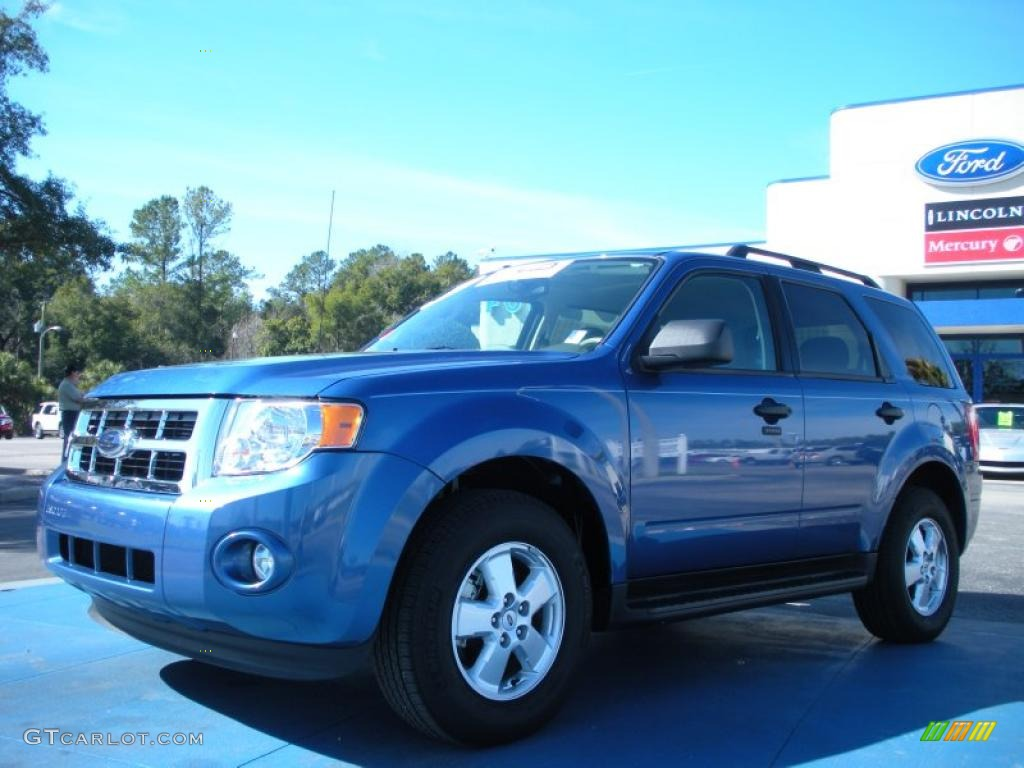 2009 Escape XLT - Sport Blue Metallic / Stone photo #1