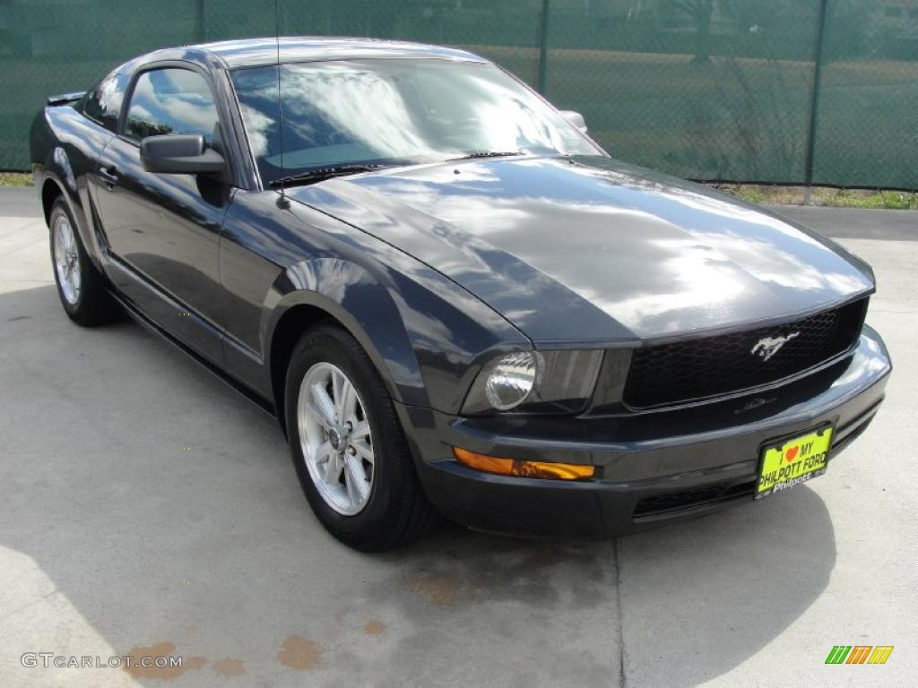 2007 Mustang V6 Deluxe Coupe - Alloy Metallic / Dark Charcoal photo #1