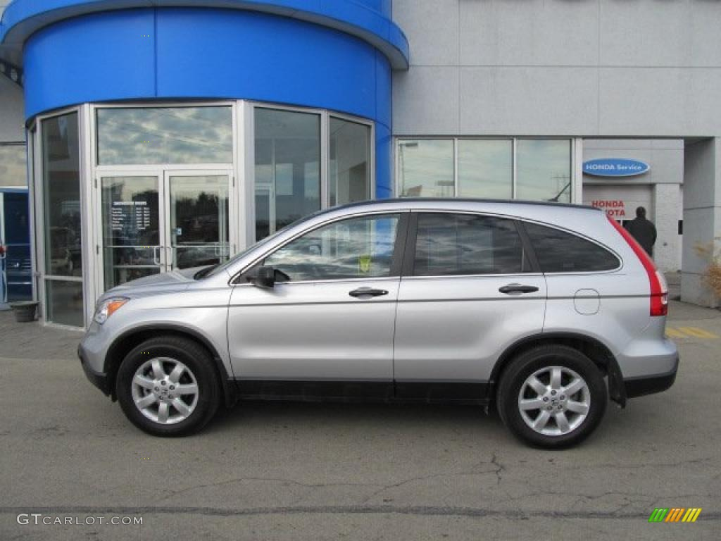 2009 CR-V EX 4WD - Alabaster Silver Metallic / Black photo #3