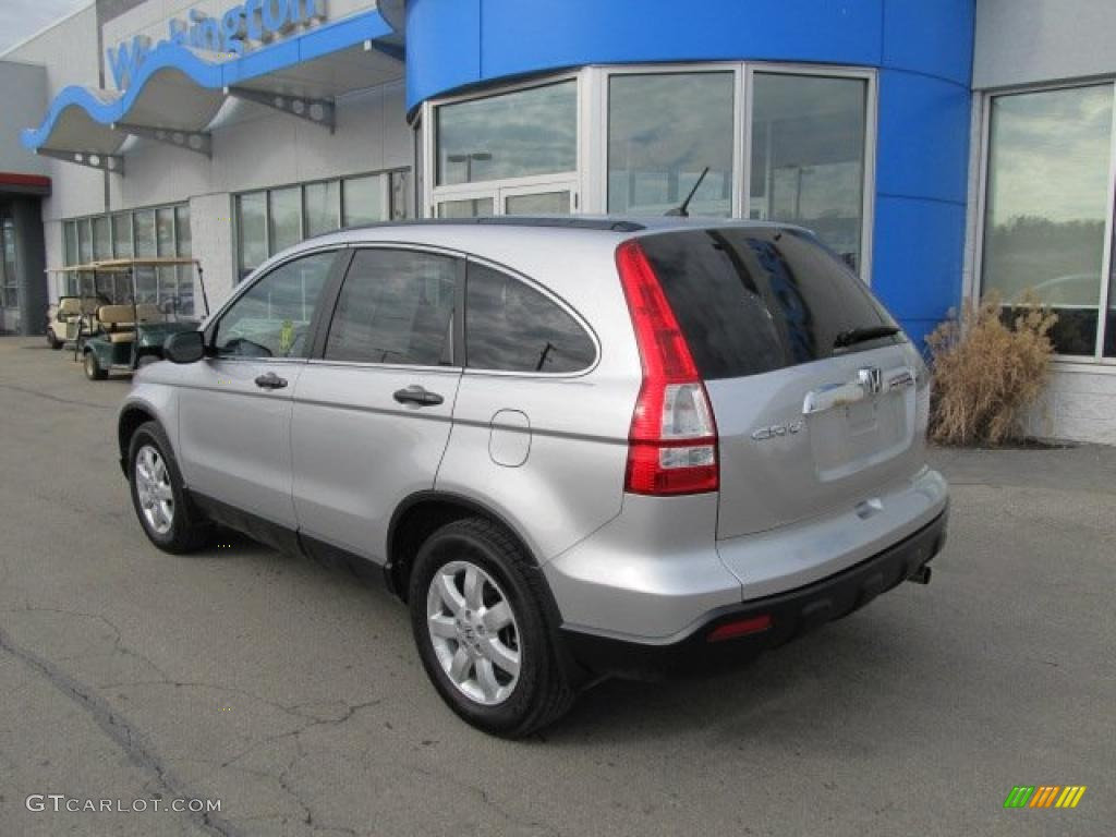 2009 CR-V EX 4WD - Alabaster Silver Metallic / Black photo #5
