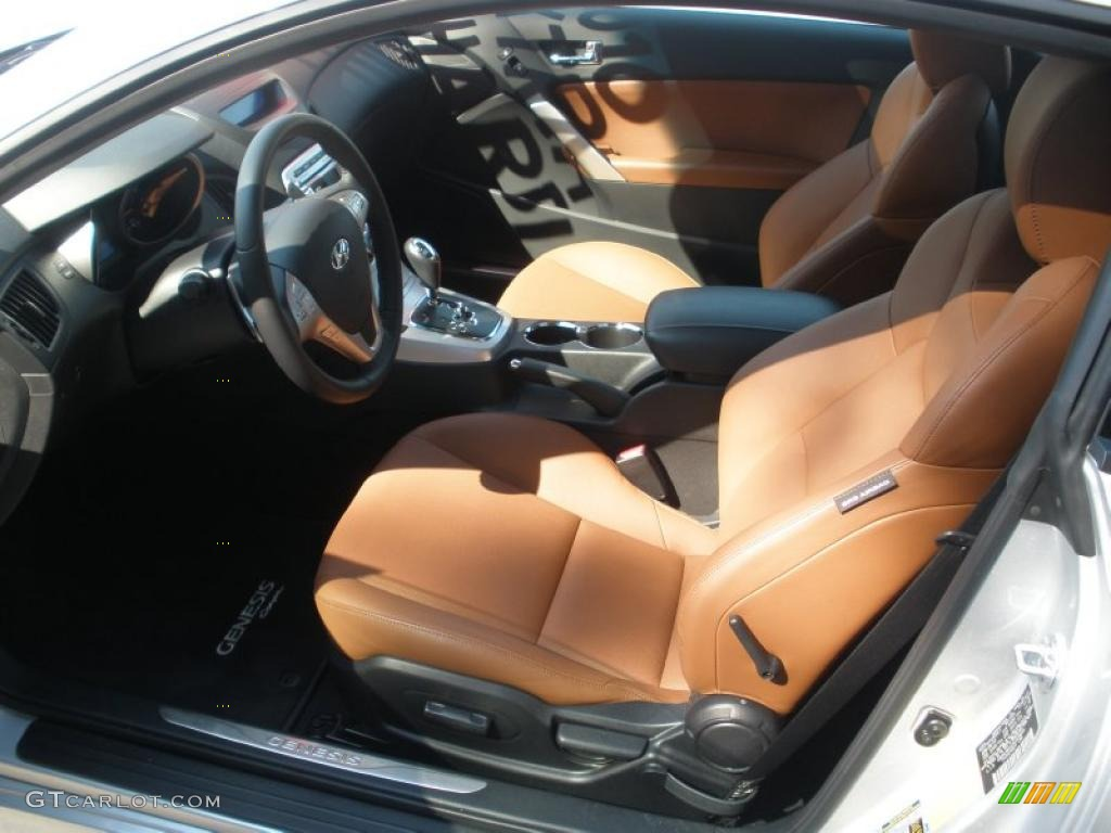 Brown Interior 2010 Hyundai Genesis Coupe 3 8 Grand