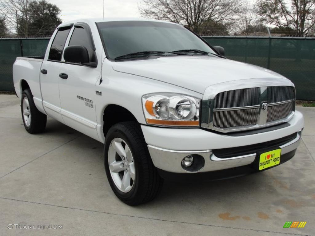 2006 Ram 1500 SLT Lone Star Edition Quad Cab - Bright White / Medium Slate Gray photo #1