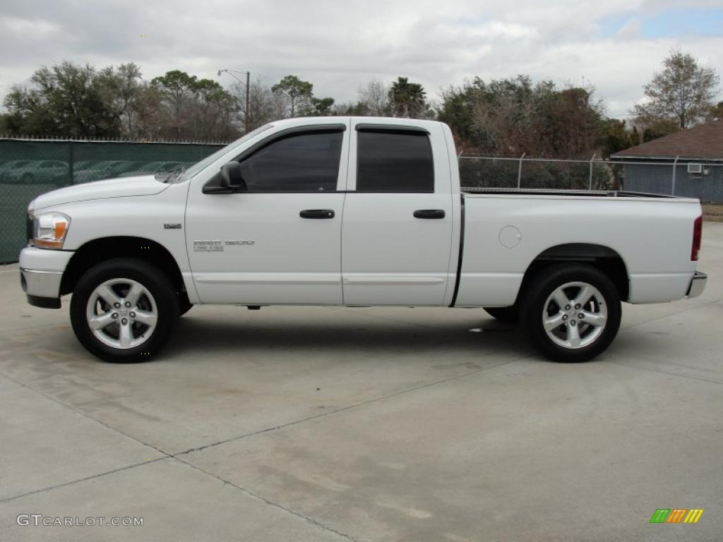 bright white 2006 dodge ram 1500 slt lone star edition quad cab. Black Bedroom Furniture Sets. Home Design Ideas
