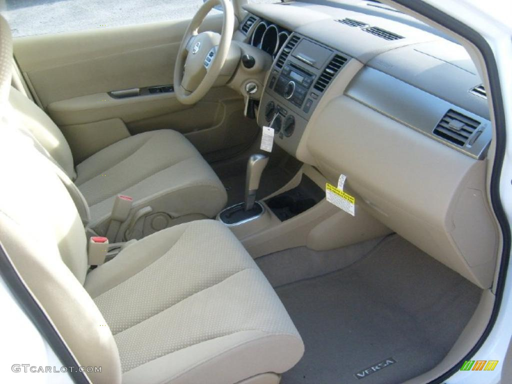 beige interior 2011 nissan versa 1 8 s hatchback photo 45453260. Black Bedroom Furniture Sets. Home Design Ideas