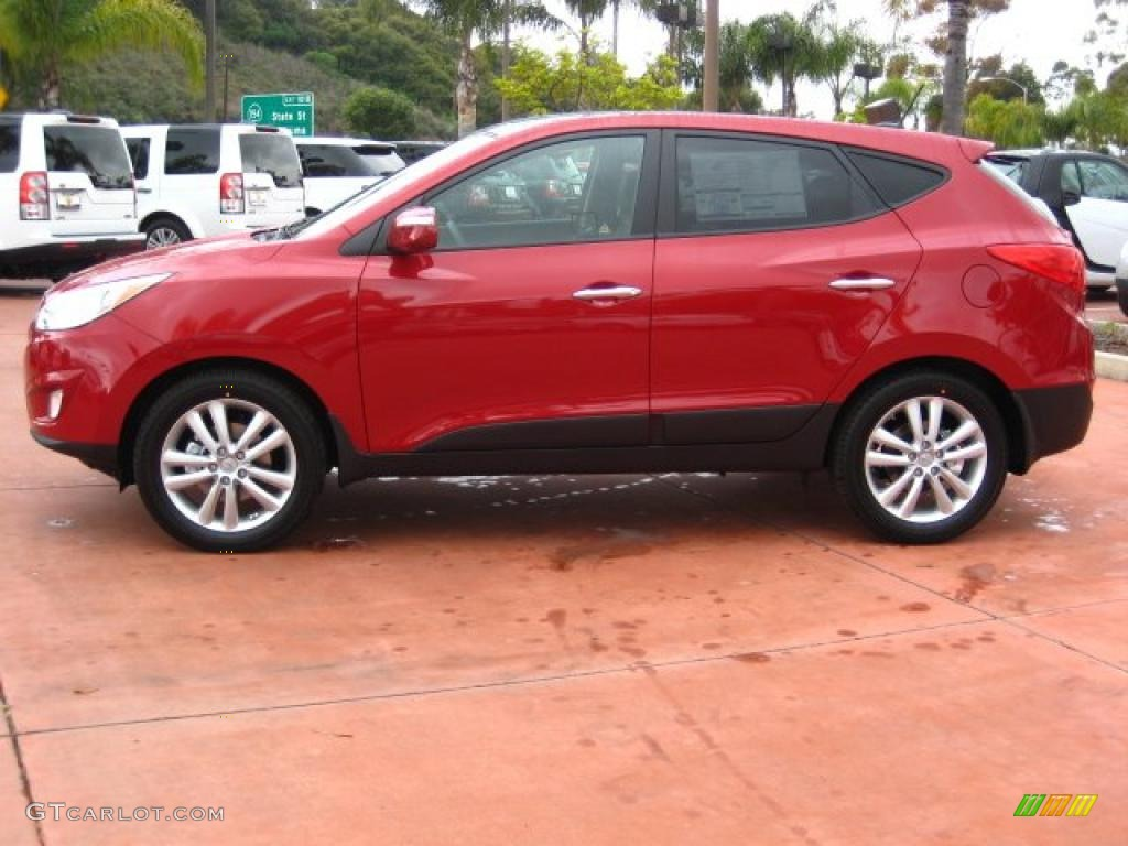 garnet red 2011 hyundai tucson limited awd exterior photo 45457072. Black Bedroom Furniture Sets. Home Design Ideas