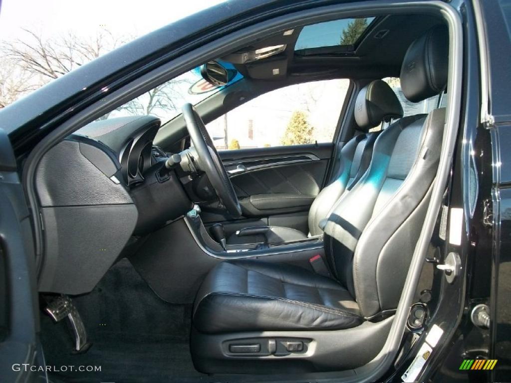 Ebony Silver Interior 2007 Acura Tl 3 5 Type S Photo 45459269