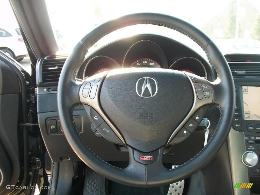 2007 Acura Tl 3 5 Type S Ebony Silver Steering Wheel Photo 45459293