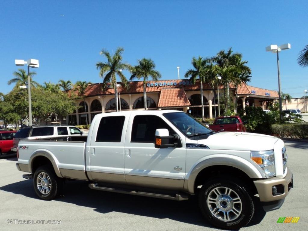 White platinum tri coat metallic ford f350 super duty