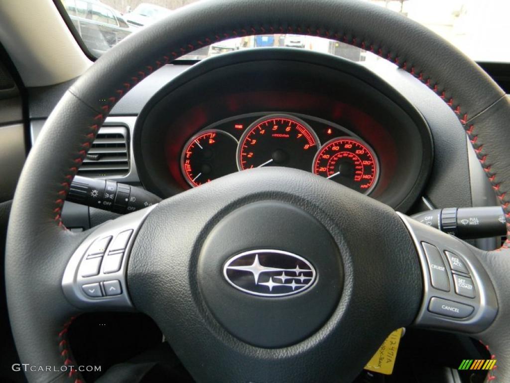 2009 subaru impreza wrx sedan carbon black steering wheel. Black Bedroom Furniture Sets. Home Design Ideas