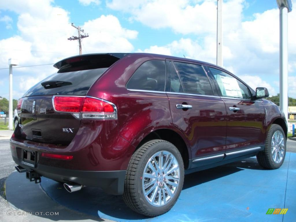 bordeaux reserve red metallic 2011 lincoln mkx fwd exterior photo 45482055. Black Bedroom Furniture Sets. Home Design Ideas