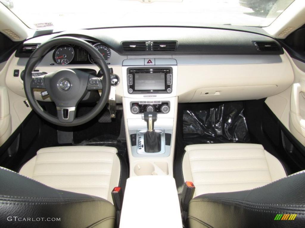 2011 Volkswagen Cc Sport Cornsilk Beige Black Dashboard