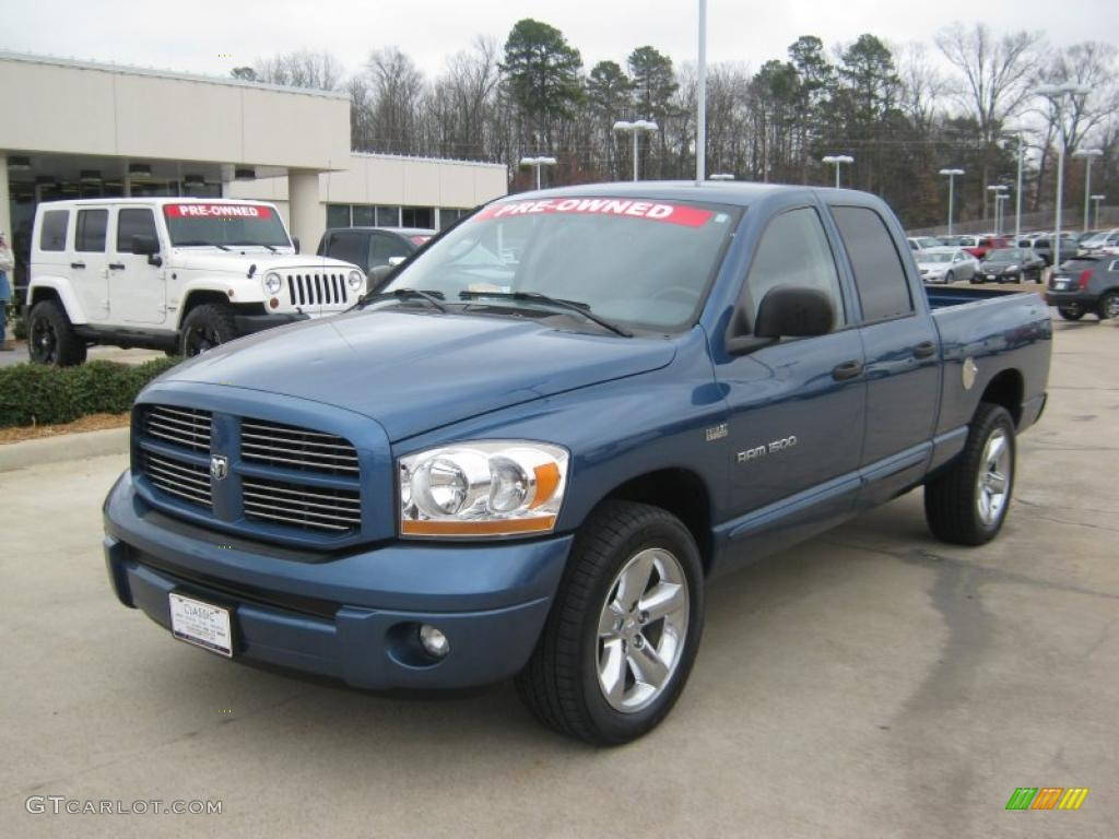 2006 dodge ram 1500 sport quad cab atlantic blue pearl color. Black Bedroom Furniture Sets. Home Design Ideas
